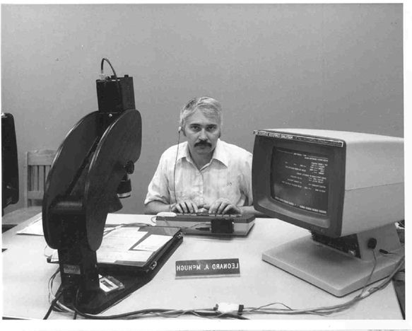 Lenny at the helm of the first talking computer